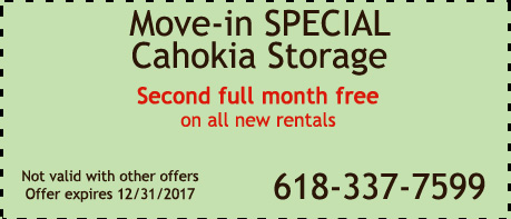 Move In Special Coupon for Cahokia Storage Center in  Cahokia IL